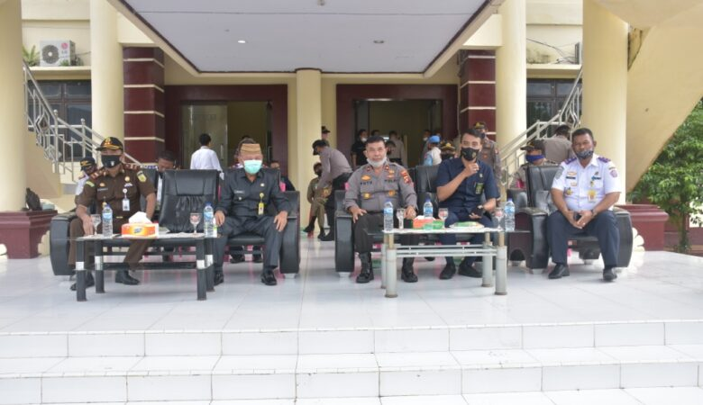 Apel gelar pasukan Operasi Patuh Otanaha di halaman Mapolres Pohuwato