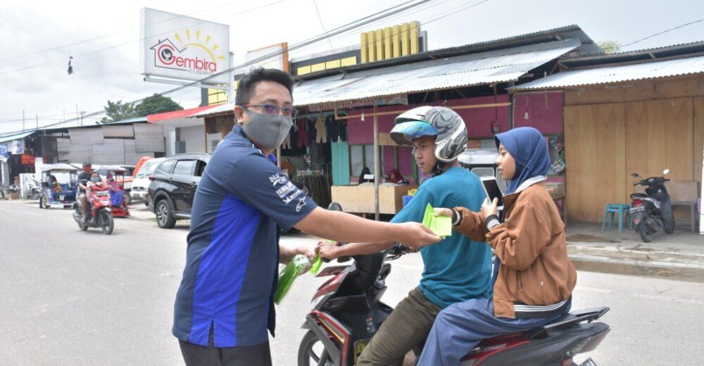 Pembagian masker UPT BLK Disnakertrans Pohuwato