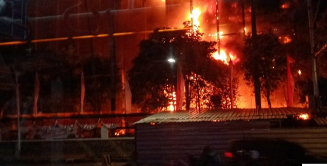 Kantor Kejagung Terbakar