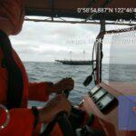 Bagan Perahu Bermuatan 7 Orang Nyaris Tenggelam di Perairan Gorontalo