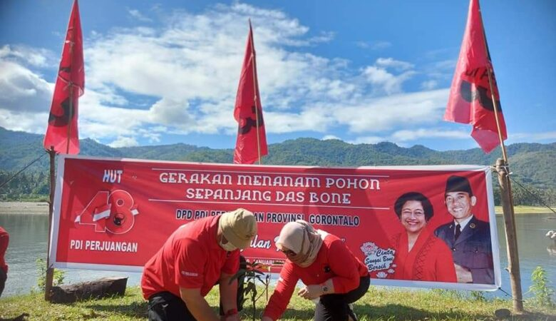 Rayakan Ultah Ke-48, DPD PDIP Gorontalo Gelar Bakti Sosial